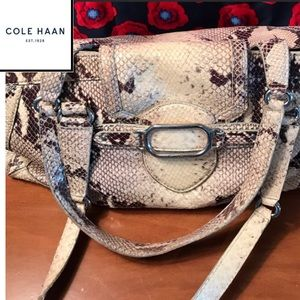 Cole Haan limited edition snake skin leather bag